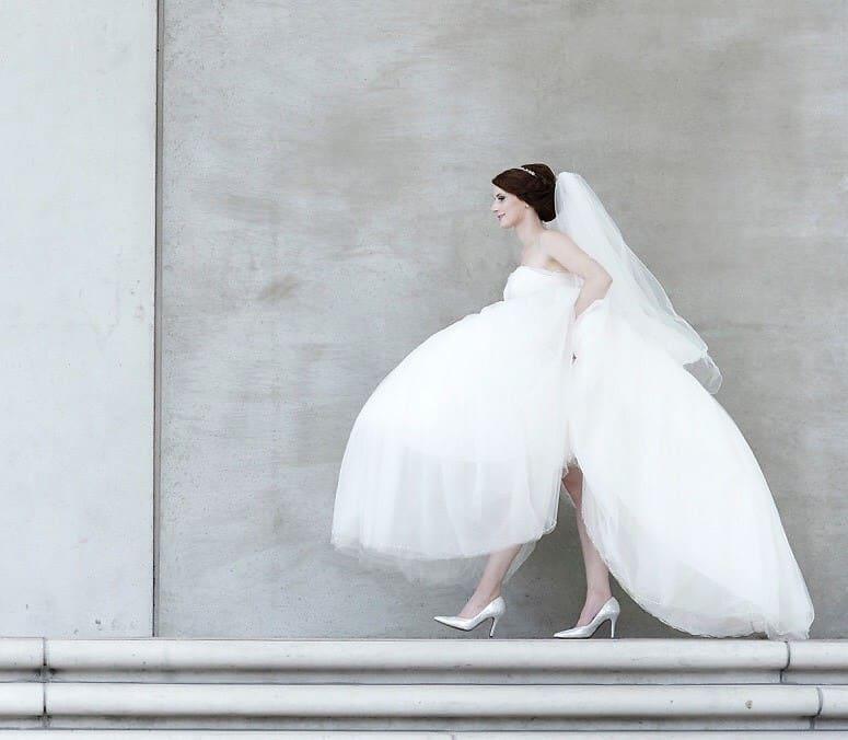 Wichtig ist, dass die Braut sich im Kleid wohlfühlt