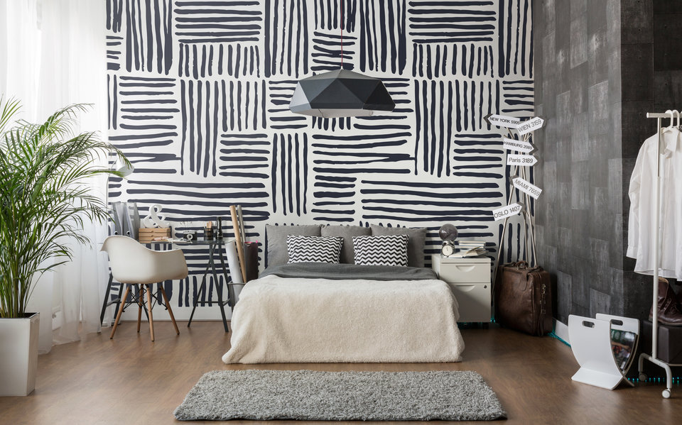tapetentrends 2019 sind von der mode inspiriert kreativliste. Black Bedroom Furniture Sets. Home Design Ideas