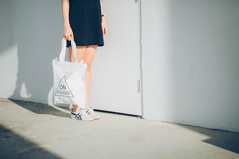 Taschen für's Shopping mit Logo versehen und bei den Kunden verteilen
