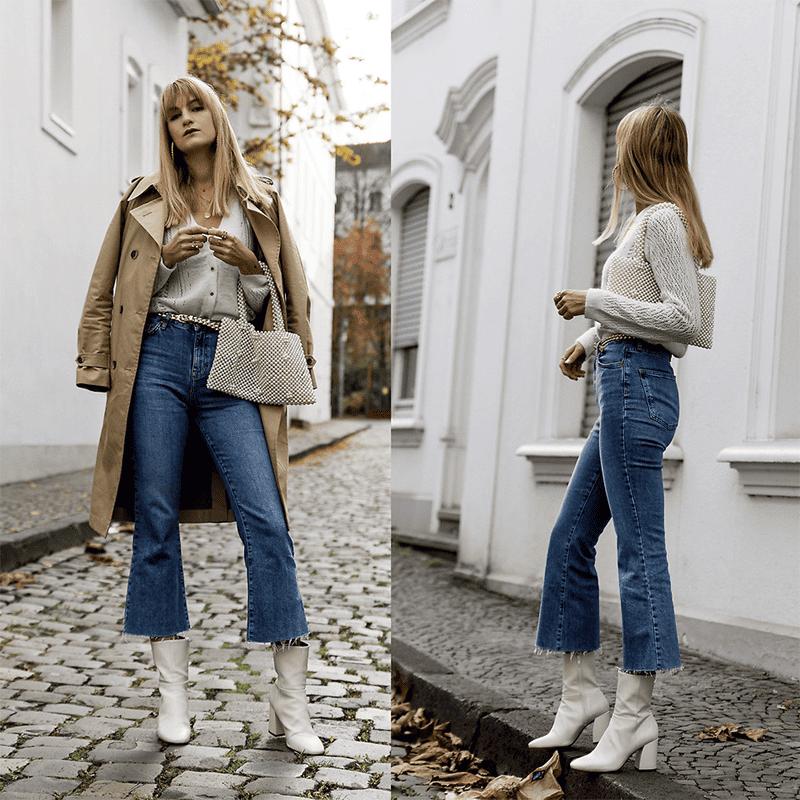 Ausgestellte Jeansformen sind 2019 Trend