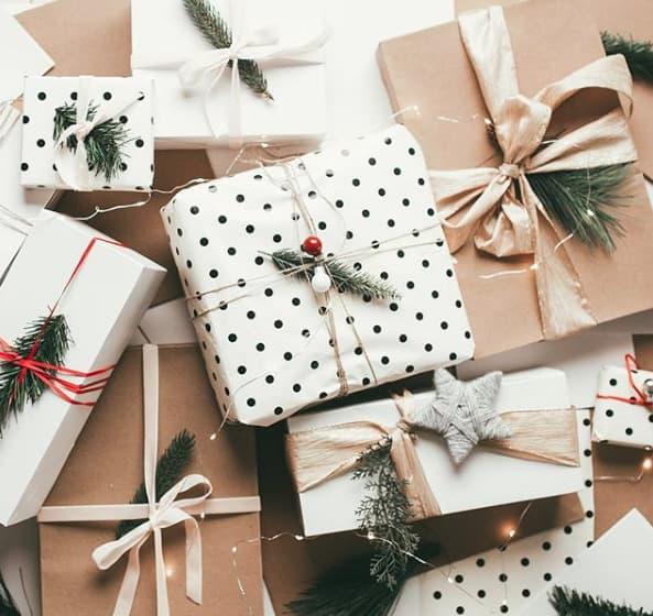 Geschenke für Tannengrün verschönern