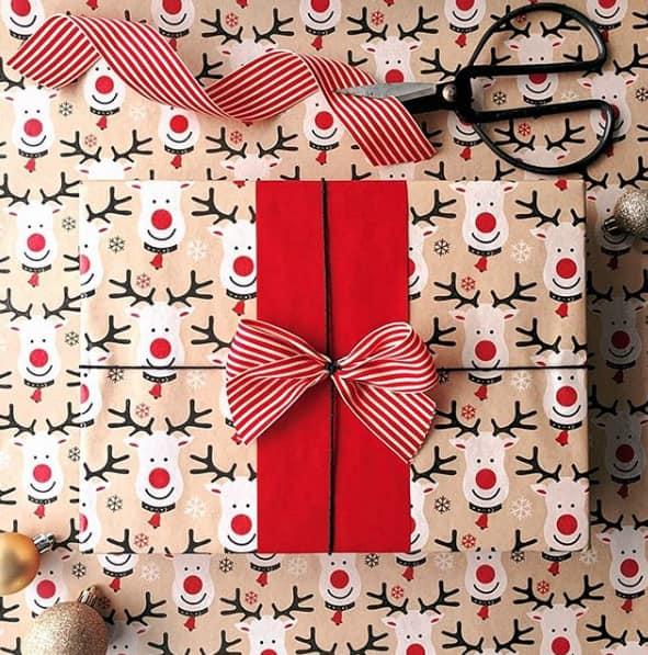 Zwei Geschenkpapiere in Kombination
