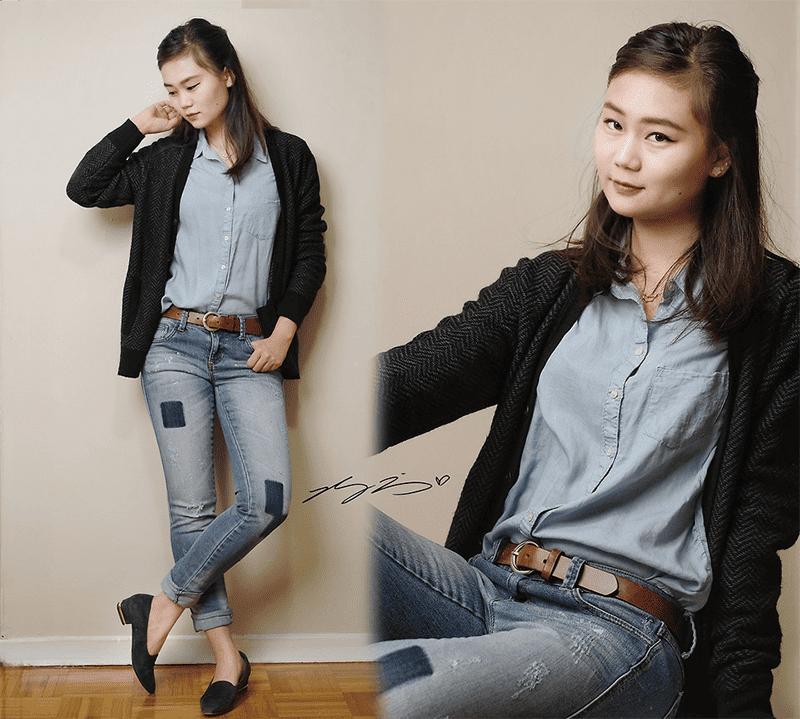 Jeans aufkrempeln und schon sieht der Style modern aus