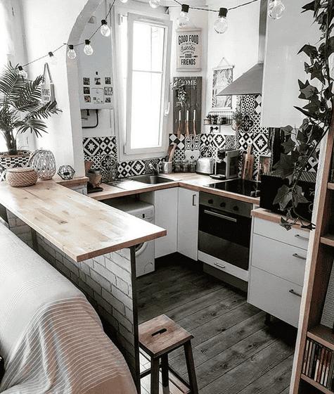 Kleine Küchen profitieren von hellen Farben