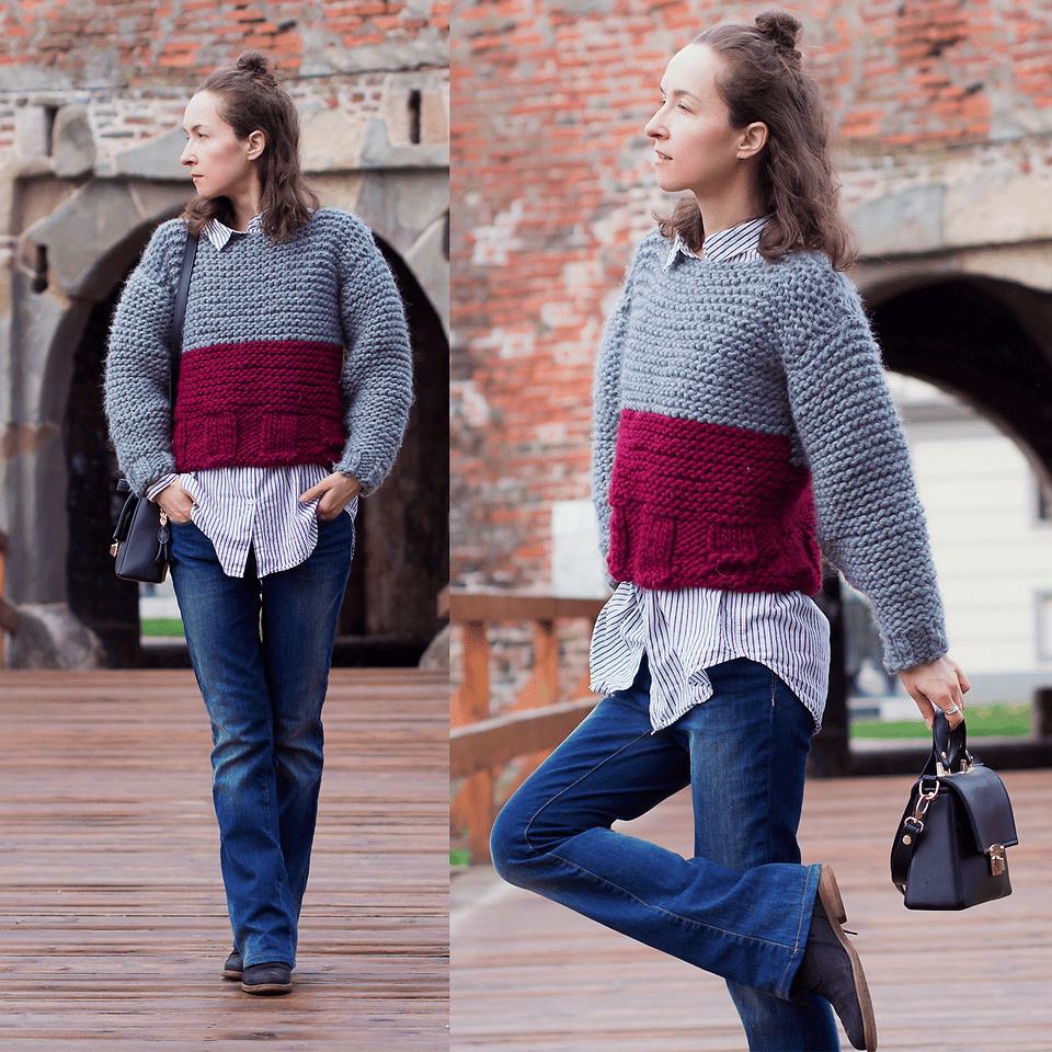 """Einer der mutigsten Mode-Hacks ist """"kurz über lang"""" tragen"""
