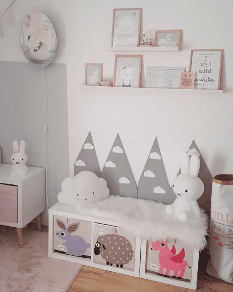 Für schmale Kinderzimmer bietet sich eine Sitztruhe mit ...