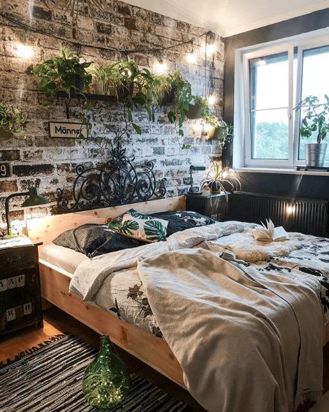 Grünpflanzen bringen Frische ins Schlafzimmer