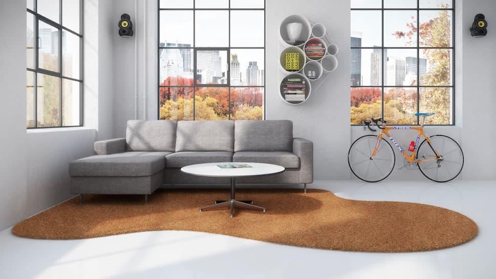Individuelle Teppichformen bringen Persönlichkeit in den Raum