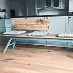 Sitzbank im skandinavischen Stil