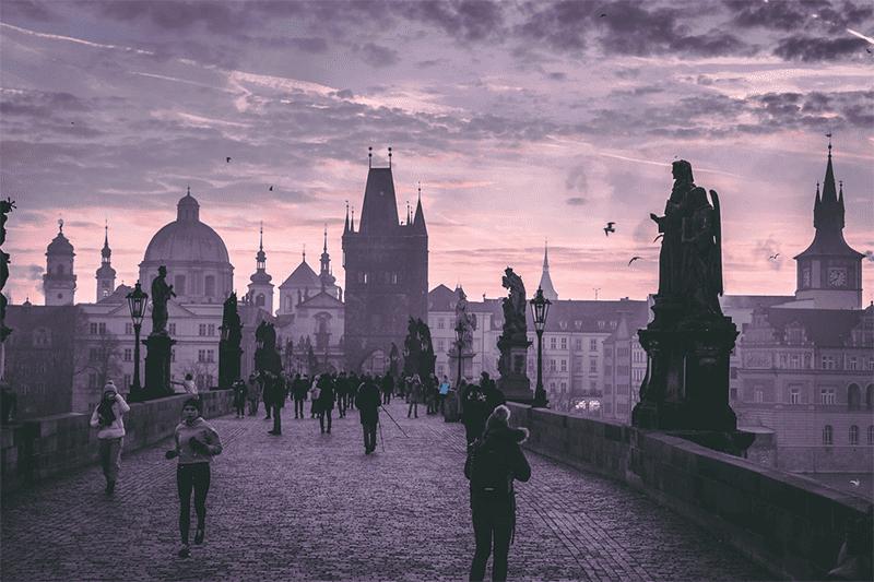 Prag ist ein Ausflugsziel für Romantiker