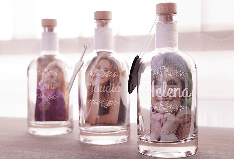 Gravierte Flasche zum Muttertag