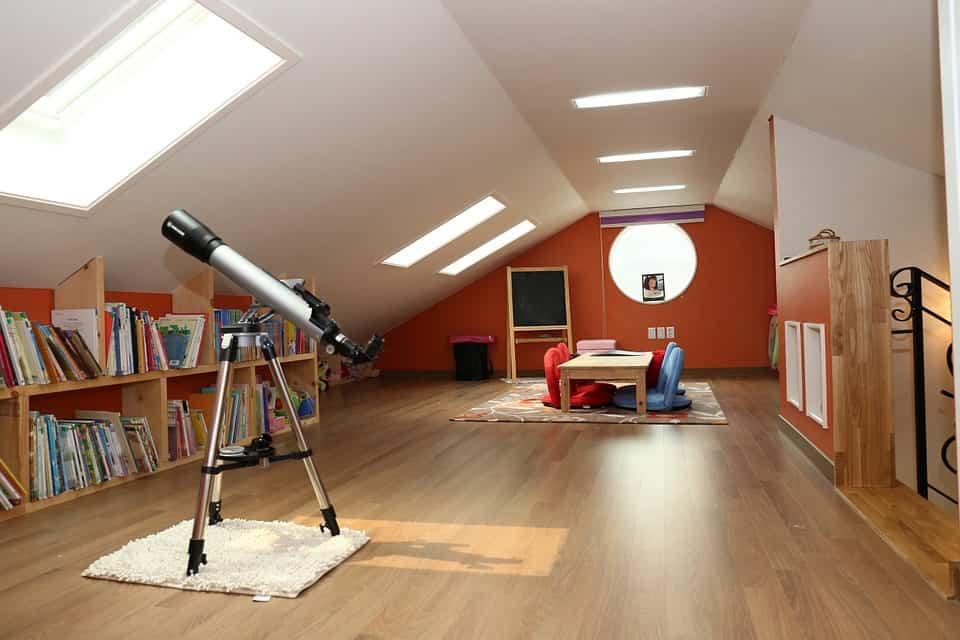 Spielzimmer unter dem Dach