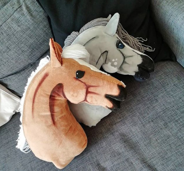 Kissen in Pferdekopfform