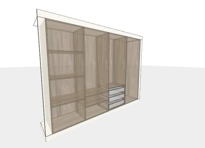 Mit diesem 2D- und 3D-Konfigurator ist ein Schrank oder Regal individuell planbar