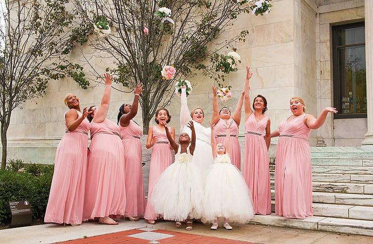 Mache deine besten Freundinnen zu deinen Brautjungfern