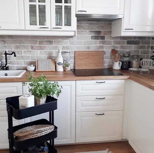 Eine Küche im Landhausstil