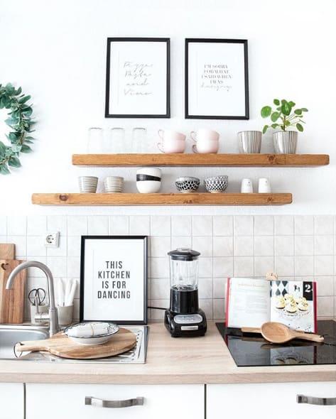 Wandboard statt Küchenregal
