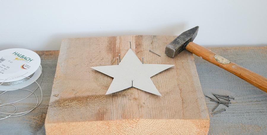 DIY Stern mit Kordeln