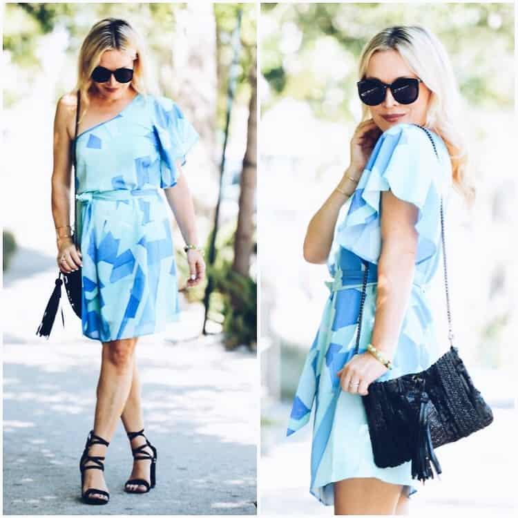 Ein Offshoulder-Kleid ist sinnlich und selbstbewusst gleichermaßen