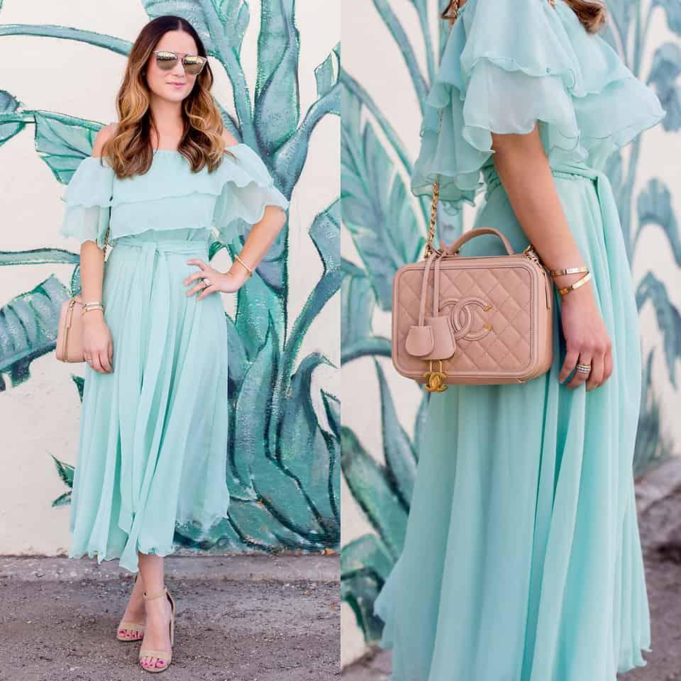 Ein Kleid in eisigem Mint