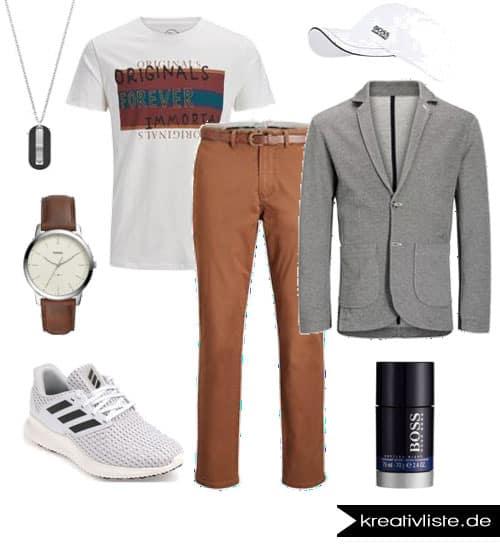 Herrenmode Outfit mit Jerseyblazer