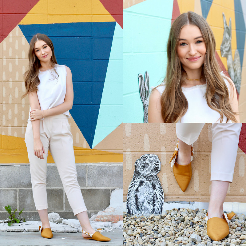 Pantoletten kannst du mit langen und kurzen Hosen stylen