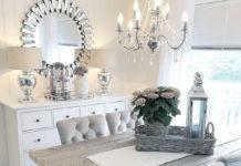 Metall in Silberfarben versprüht zu Hause kühle Eleganz