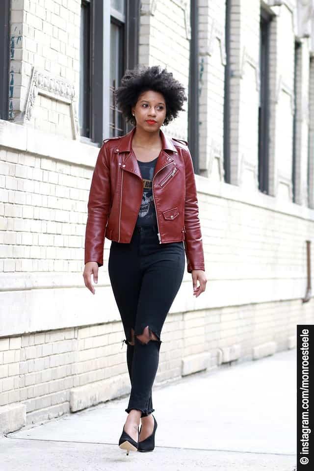 Lederjacke kombinieren so wird daraus ein Trend Outfit