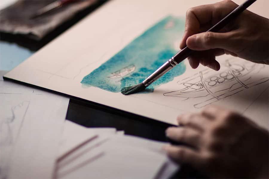 Malen und Zeichnen sind beliebte Hobbys