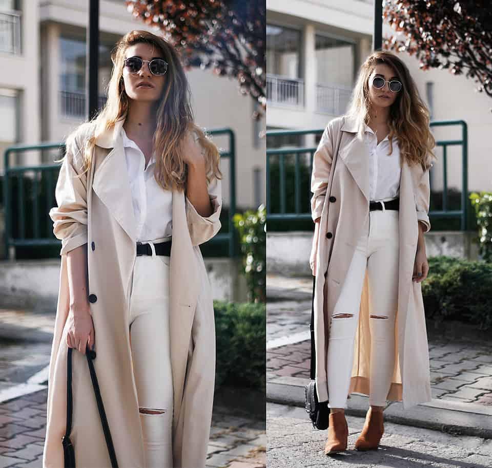 Knöchellange Trenchcoats sehen besonders elegant aus