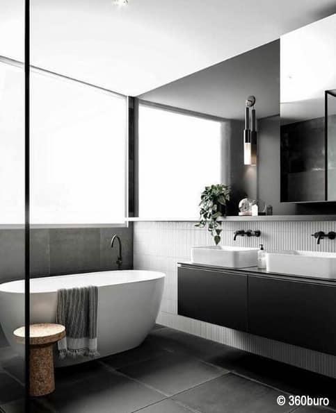 Viel Licht ist wichtig in einem kleinem Badezimmer