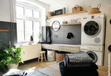 Eine Waschküche im Hauswirtschaftsraum