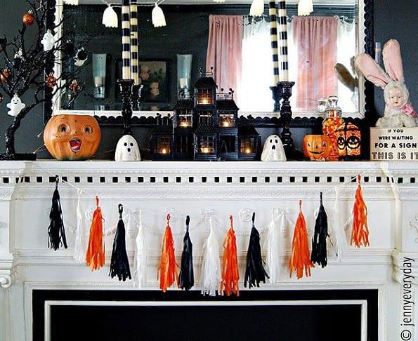 Dekoidee zu Halloween im Haus
