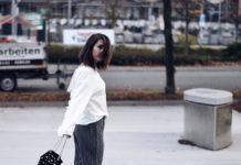 Plisseehose mit Pullover